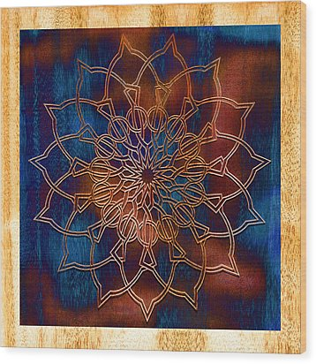 Wooden Mandala Wood Print by Hakon Soreide