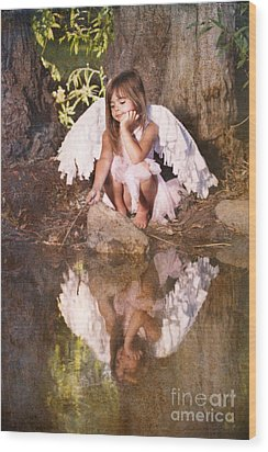 Woodland Fairy Wood Print
