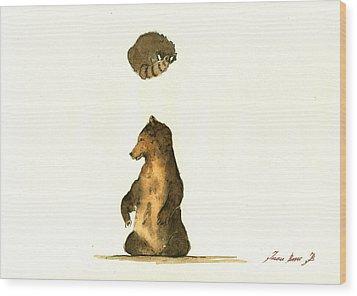 Woodland Letter I Wood Print by Juan  Bosco