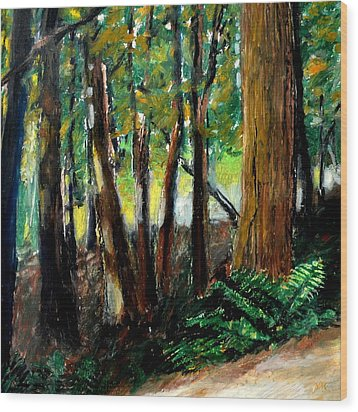 Woodland Trail Wood Print by Michelle Calkins