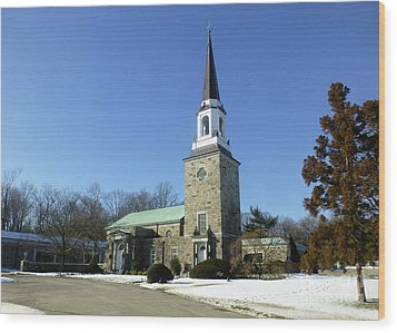 Woodlawn Cemetery Chapel Wood Print