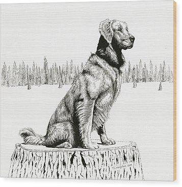 Woods Dog Wood Print