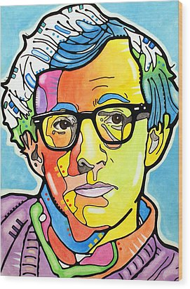 Wood Print featuring the painting Woody Allen by Dean Russo