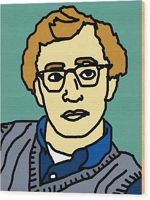 Woody Allen Wood Print by Jera Sky