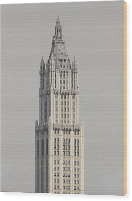 Woolworth  Black And White Two Wood Print by Christopher Kirby