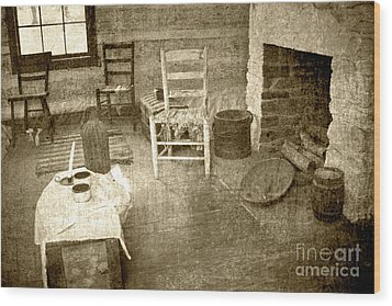 Wood Print featuring the photograph Worker Quarters 2 by Pete Hellmann