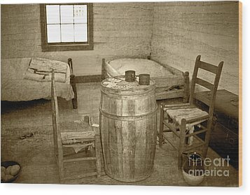 Wood Print featuring the photograph Worker Quarters by Pete Hellmann