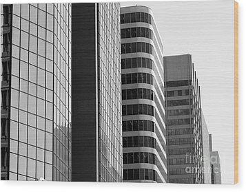 Wood Print featuring the photograph Working Downtown by Wilko Van de Kamp