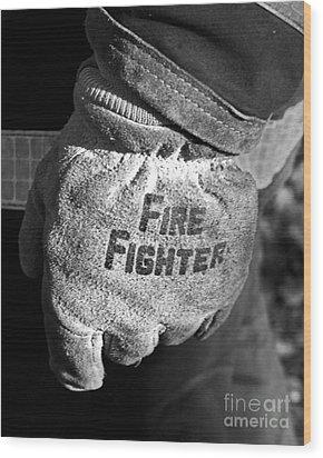 Working Gloves Wood Print