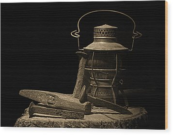 Working On The Railroad Still Life Wood Print by Tom Mc Nemar