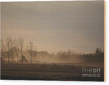 Wood Print featuring the photograph Working The Field by Wilko Van de Kamp