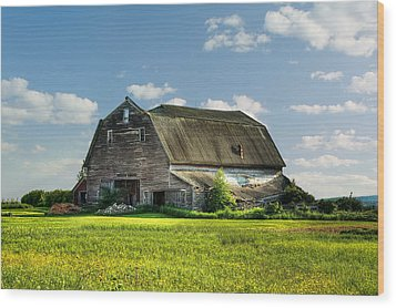 Working This Old Barn Wood Print by Gary Smith