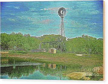 Wood Print featuring the photograph Working Windmill  by Ray Shrewsberry