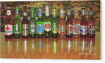 Wood Print featuring the photograph World Beers By Kaye Menner by Kaye Menner