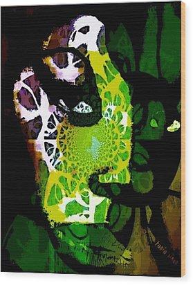 World Citizen - Voyageur Solitaire Wood Print by Fania Simon