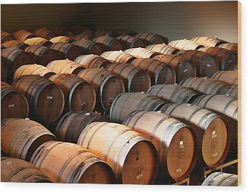 World-class Wine Is Made In California Wood Print by Christine Till