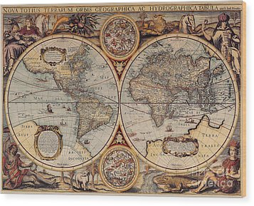 World Map 1636 Wood Print