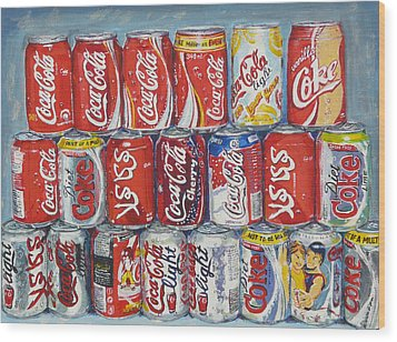 World Of Coca Cola Wood Print by Tomas OMaoldomhnaigh