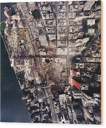 World Trade Center, Aerial Photograph Wood Print by Everett