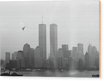 World Trade Center And Opsail 2000 July 4th Photo 18 B2 Stealth Bomber Wood Print by Sean Gautreaux