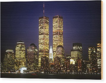 World Trade Center Wood Print by Gerard Fritz