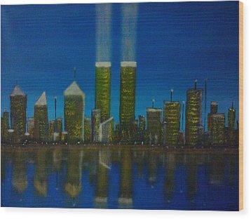World Trade Center Wood Print by Jason Walburn