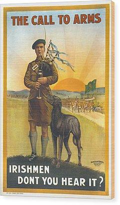 World War I, Irish Military Recruitment Wood Print by Everett