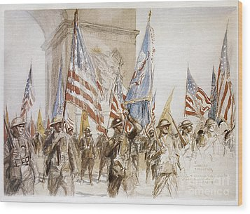World War I: Victory Parade Wood Print by Granger