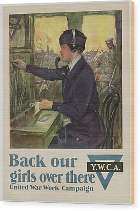 World War I Ywca Poster Wood Print by Clarence F Underwood