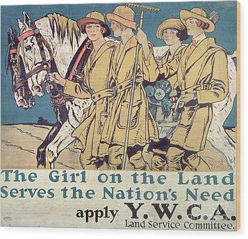 World War I Ywca Poster  Wood Print by Edward Penfield