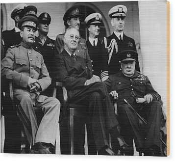 World War II. From Left, Front Row Wood Print by Everett