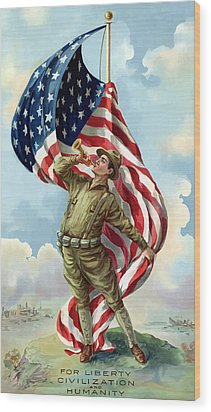 World War One Soldier Wood Print by War Is Hell Store