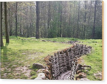 Wood Print featuring the photograph World War One Trenches by Travel Pics