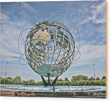 World's Fair Queens 1964 Wood Print by Chuck Kuhn