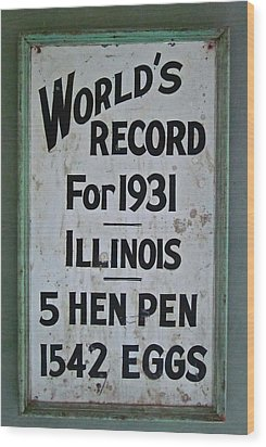 World's Record Wood Print by Gwyn Newcombe