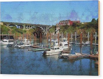 Worlds Smallest Harbor Wood Print