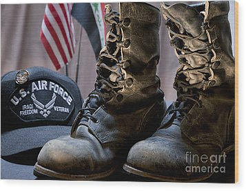 Wood Print featuring the photograph Worn Out Veteran by Melany Sarafis