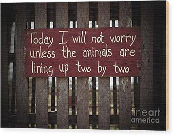 Worry Wood Print by Lynn Sprowl