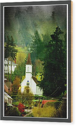 Worship In Kalama Wood Print by Dale Stillman