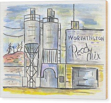 Worthington Ready Mix Wood Print by Matt Gaudian