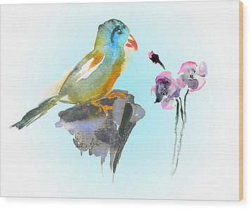 Would You Care To Dance With Me Wood Print by Miki De Goodaboom