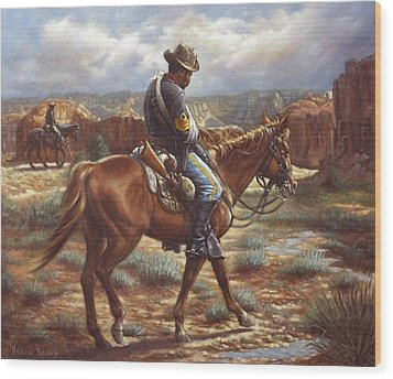 Wounded In Action Wood Print by Harvie Brown