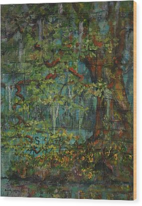 Woven Wood Print by Dorothy Allston Rogers