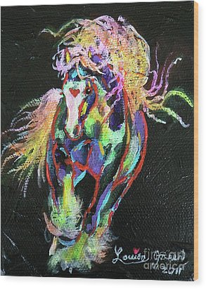 Wraggle Taggle Gypsy Cob Wood Print by Louise Green