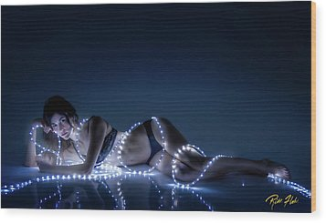Wood Print featuring the photograph Wrapped In Light by Rikk Flohr