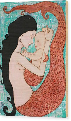 Wrapped In Love Wood Print by Natalie Briney