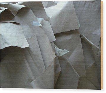 Wrappings Wood Print by Nancy Ferrier
