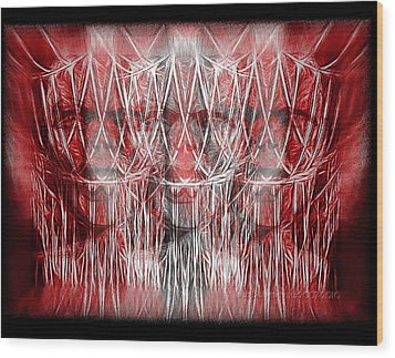 Wrath Threefold Wood Print by Mimulux patricia no No
