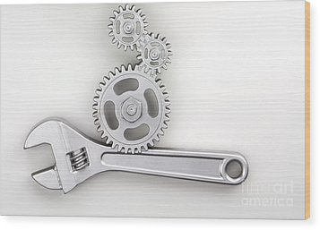 Wrench Wood Print by Blink Images