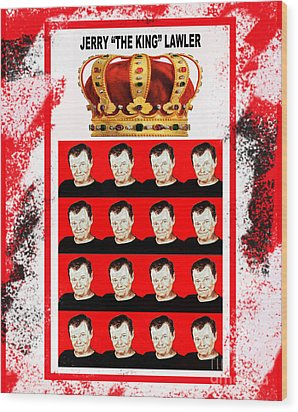 Wrestling Legend Jerry The King Lawler IIi Wood Print